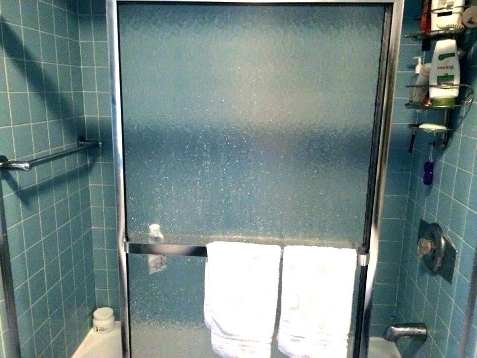 soap scum on glass shower door